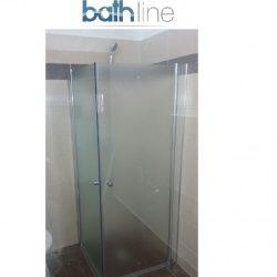 מקלחון פינתי מרובע שתי דלתות 77-78.5 פסים