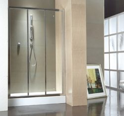 מקלחון חזית קבוע ושתי דלתות הזזה 80-90 SELAQUA