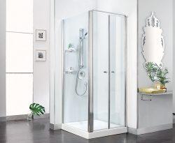 מקלחון חזית שתי דלתות וקבוע בצד (לפי מידה)