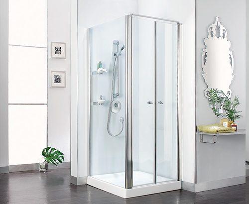 מקלחון לפי מידה 2 דלתות וקבוע בצד