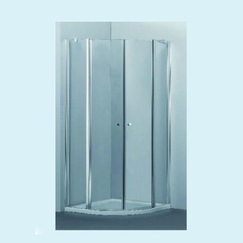 מקלחון פינתי מעוגל שתי דלתות