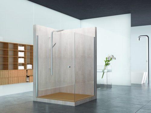 מקלחון פינתי קבוע ודלת לפי מידה