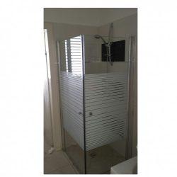 מקלחון פינתי מרובע שתי דלתות IN/OUT  מידה 77-78.5