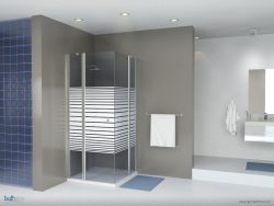 מקלחון פינתי מרובע שני קבועים ושתי דלתות 77-78.5