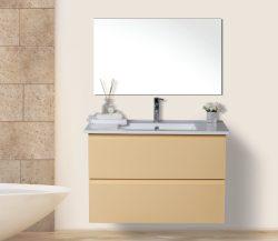 """ארון אמבטיה תלוי דגם אלון כולל כיור כפול מידה 120 ס""""מ"""