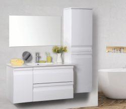 """ארון אמבטיה תלוי דגם מיקה 80 ס""""מ כולל כיור ומראה"""