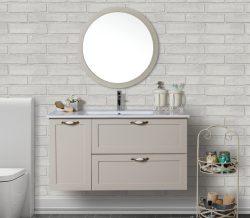 ארון אמבטיה תלוי דגם ארבל כולל כיור