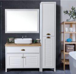 """ארון אמבטיה עומד דגם אמזונס כולל כיור מידה 150 ס""""מ"""