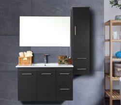 """ארון אמבטיה תלוי פורמייקה דגם ירדן מידה 90-100 ס""""מ כולל כיור ומראה"""