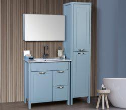 """ארון אמבטיה עומד דגם גמלא כולל כיור ומראה מידה 90-100 ס""""מ"""
