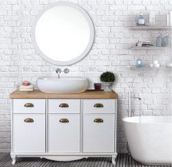 ארון אמבטיה עומד דגם יובל כולל כיור