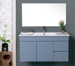 """ארון אמבטיה תלוי דגם חרמון 60 ס""""מ כולל כיור ומראה"""
