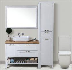 ארון אמבטיה עומד דגם רומא  כולל כיור