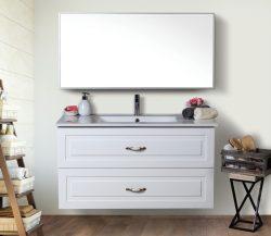 ארון אמבטיה תלוי דגם ברק כולל כיור