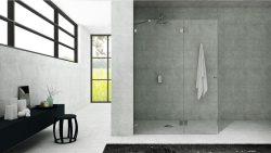 מקלחון חזית קבוע ודלת