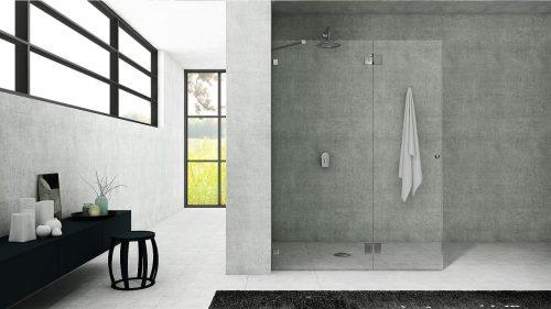 מקלחון קבוע ודלת לפי מידה