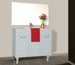 ארון אמבטיה עומד דגם רביד כולל כיור