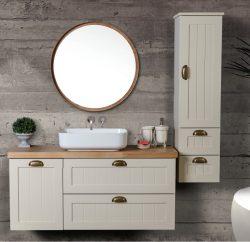 ארון אמבטיה תלוי דגם דפנה כולל כיור