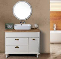 ארון אמבטיה עומד דגם מיתר כולל כיור