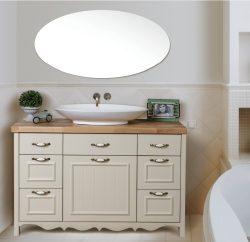 """ארון אמבטיה עומד דגם פרובנס בוצ'ר כולל כיור מידה 100 ס""""מ"""