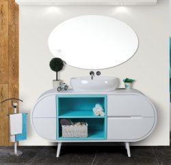 ארון אמבטיה עומד דגם אופק כולל כיור