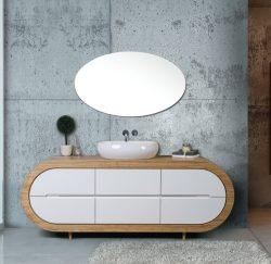 ארון אמבטיה עומד דגם קולו כולל כיור