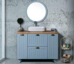 ארון אמבטיה עומד דגם סהר כולל כיור