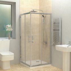 מקלחון פינתי מרובע הזזה SELAQUA RECITAL