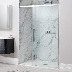 מקלחון חזית הזזה עם צירים לפי מידה