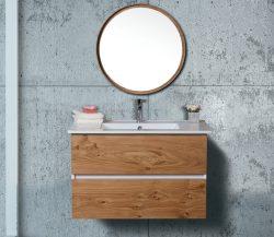 ארון אמבטיה תלוי דגם לביא מידה 90-100 כולל כיור ומראה