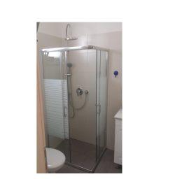 מקלחון פינתי מרובע הזזה 77-78.5 גרניט