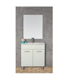 ארון אמבטיה עומד פורמייקה דגם ירמוך פלוס כולל כיור ומראה