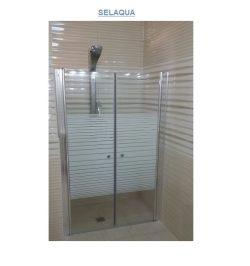 מקלחון חזית שתי דלתות 120-140 דגם SELAQUA