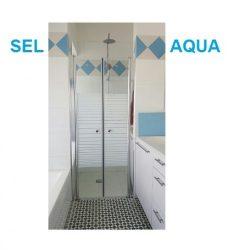 מקלחון חזית שתי דלתות 70-100 דגם SELAQUA