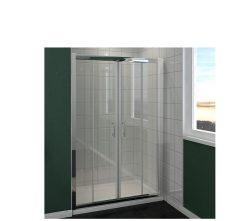 מקלחון חזית 2 קבועים ו 2 דלתות הזזה SELAQUA 140-145
