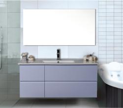 """ארון אמבטיה תלוי דגם פנורמה מידה 90/100 ס""""מ  כולל כיור"""