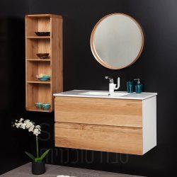 """ארון אמבטיה תלוי ווד אדוארד קיים במידות 60-120 ס""""מ"""