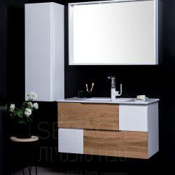 """ארון אמבטיה תלוי ווד אוסקר קיים במידות 90-150 ס""""מ"""