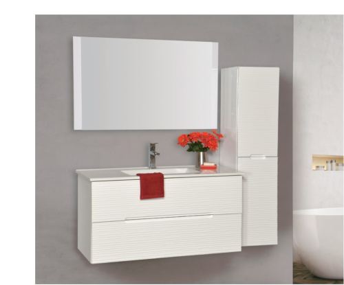 """ארון אמבטיה תלוי דגם סידני כולל כיור מידה 90-100 ס""""מ"""