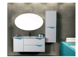 ארון אמבטיה תלוי דגם גלעד מידה 90/100 כולל כיור