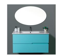 """ארון אמבטיה תלוי דגם רותם מידה 90/100 ס""""מ כולל כיור ומראה"""