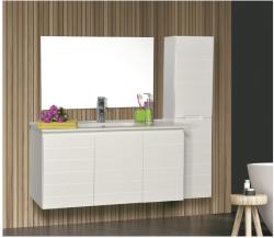 """ארון אמבטיה תלוי דגם נרקיס כולל כיור מידה 90-100 ס""""מ"""