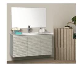 """ארון אמבטיה תלוי דגם עידו מידה 90-100 ס""""מ כולל כיור ומראה"""