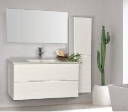 """ארון אמבטיה תלוי דגם אופיר כולל כיור מידה 90-100 ס""""מ"""