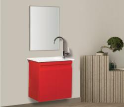 """ארון אמבטיה תלוי דגם ונציה 50 ס""""מ כולל כיור ומראה"""