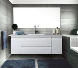 """ארון אמבטיה תלוי דגם יואל כולל כיור מידה 120 ס""""מ"""