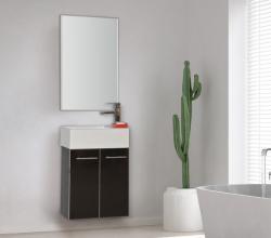 """ארון אמבטיה תלוי פורמייקה דגם מיני 44 ס""""מ כולל כיור ומראה"""