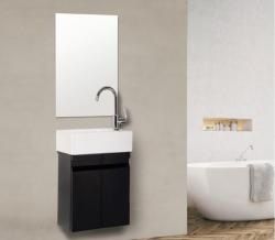 """ארון אמבטיה תלוי אפוקסי דגם ניו יורק 44 ס""""מ כולל כיור ומראה"""