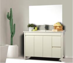 ארון אמבטיה עומד דגם אביב  כולל כיור