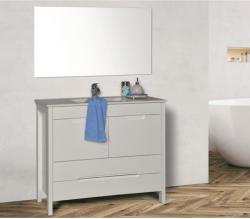 ארון אמבטיה עומד דגם שחר כולל כיור